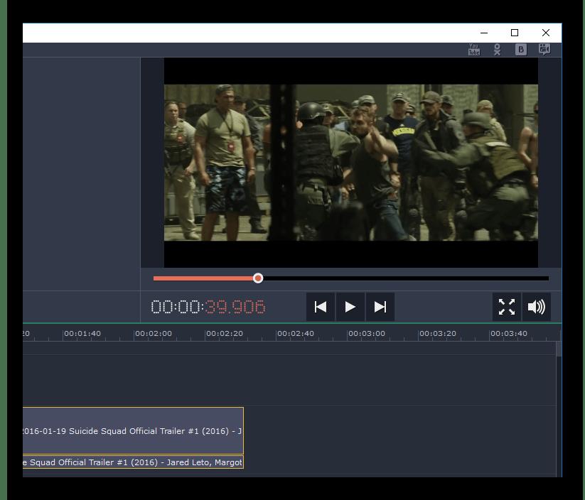 Работа в Movavi Video Editor