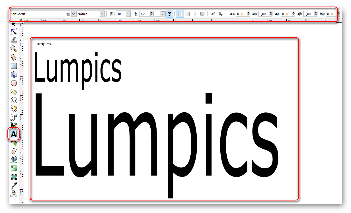 Работаем с текстом в Inkscape