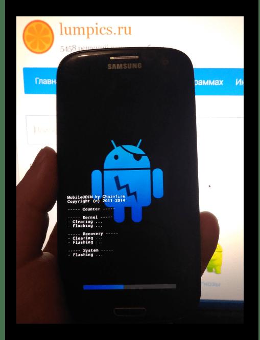 Samsung Galaxy S3 GT-I9300 Mobile Odin прогресс прошивки