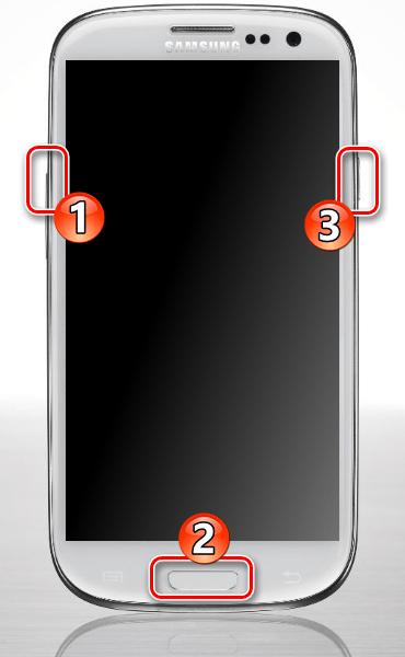 Samsung Galaxy S3 GT-I9300 Запуск смартфона в режиме рекавери