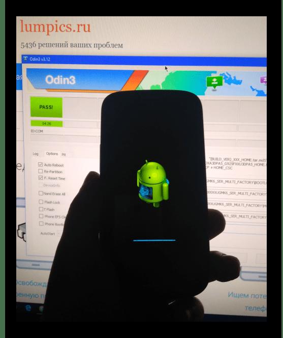 Samsung Galaxy S3 GT-I9300 инициализация прошивки после записи через Odin