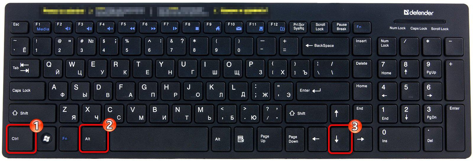 Сочетание клавиш для поворота ориентации экрана вниз в Виндовс 10