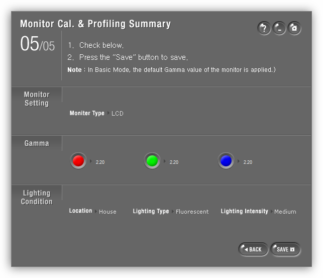 Сохранение цветового профиля в программе Natural Color Pro