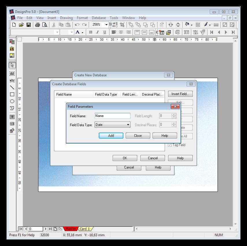 Создание базы данных в программе DesignPro 5