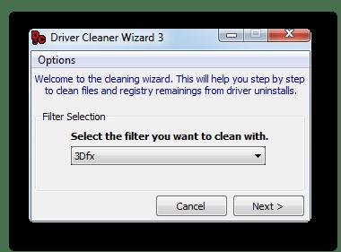 Средство-помощник для облегчения процесса удаления драйверов в Driver Cleaner