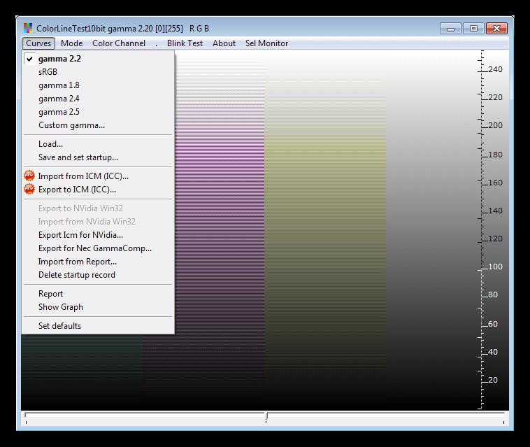 Варианты сохранения результатов настройки параметров в программе CLTest
