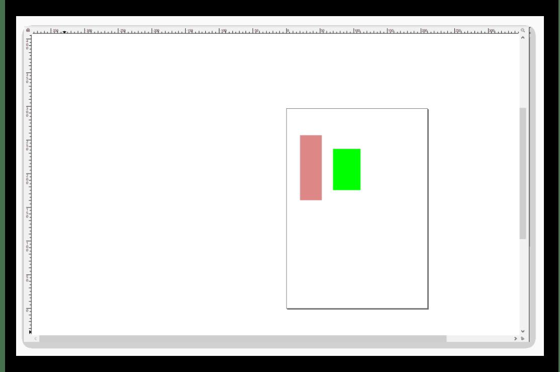 Внешний вид рабочей области в Inkscape