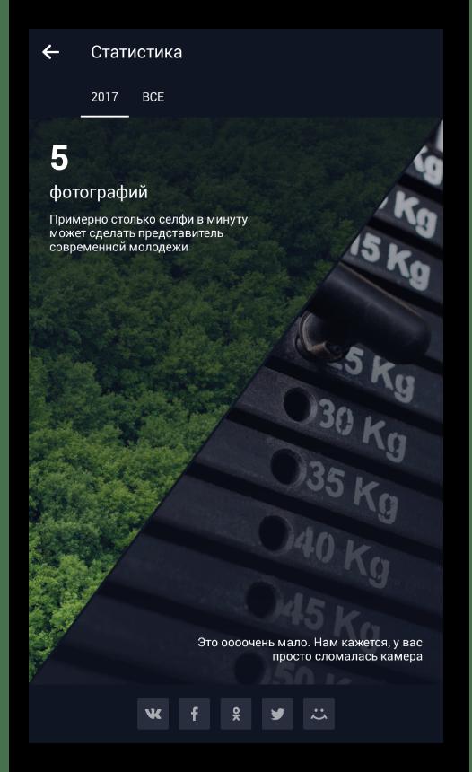 Возможность просмотра статистики в мобильной приложении Облако Mail.ru