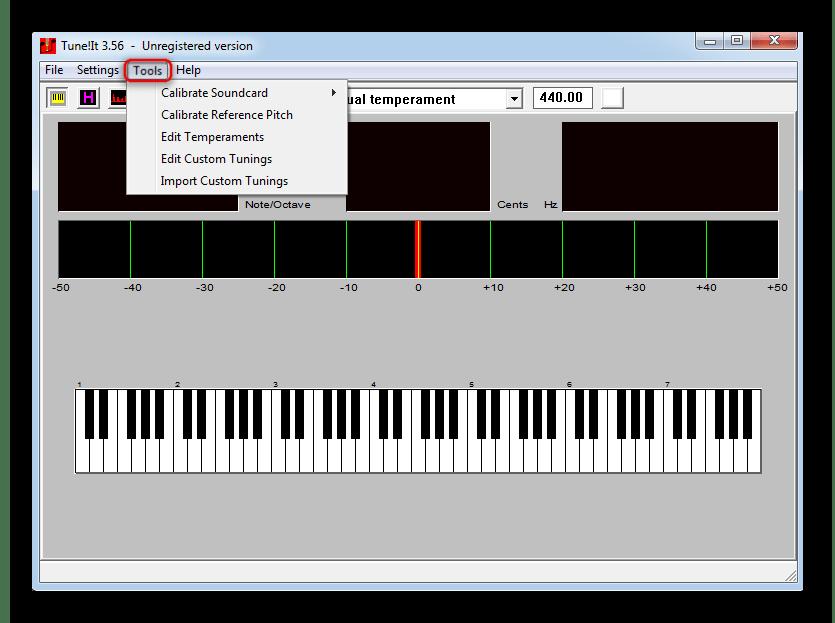 Возможность ручного изменения параметров методик настройки музыкальных инструментов в Tune It!
