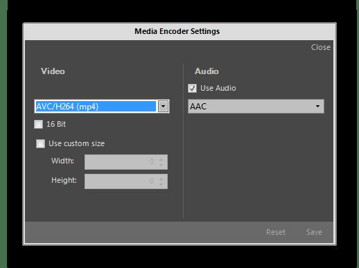 Возможность выбора формата и качества сохранения исправленного видео в proDAD Mercalli
