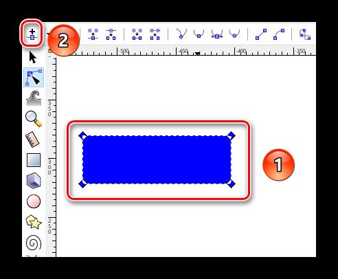 Вставляем новые узлы в объект Inkscape