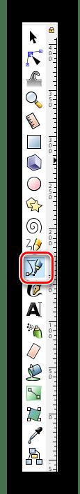Выбираем инструмент Кривые Безье в Inkscape