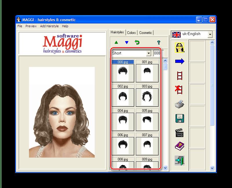 Выбор прически из коллекции Maggi