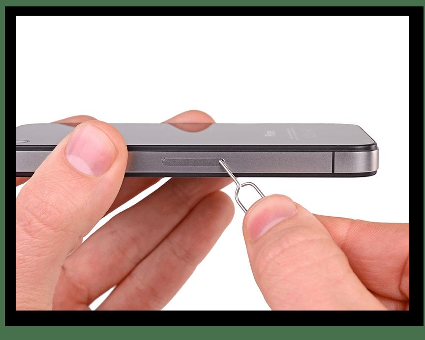 Перезагрузка смартфона спицей