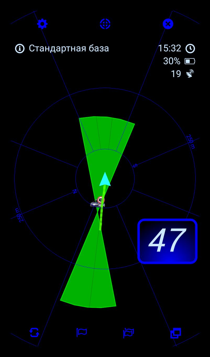 Антирадар MapcamDroid на Андроид