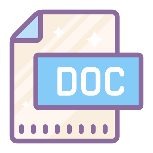 DOC to PDF logo