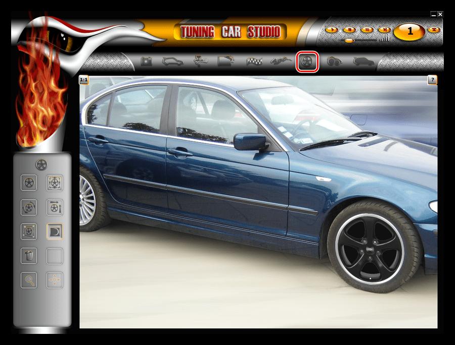Добавление колесных дисков в программе Tuning Car Studio