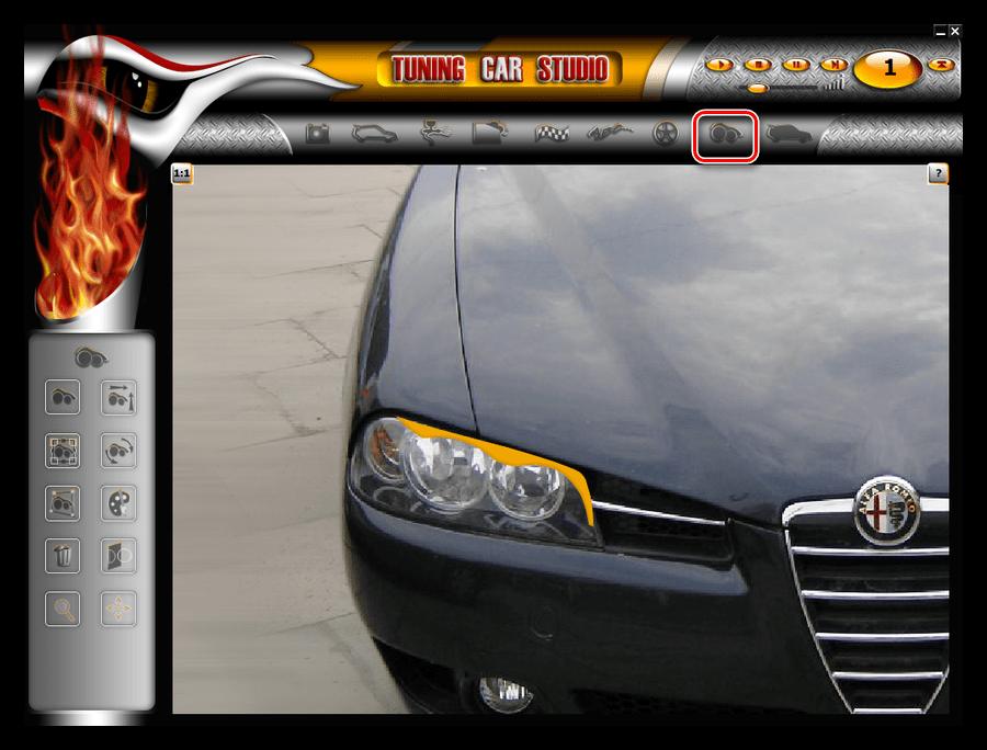 Добавление накладок на фары в программе Tuning Car Studio