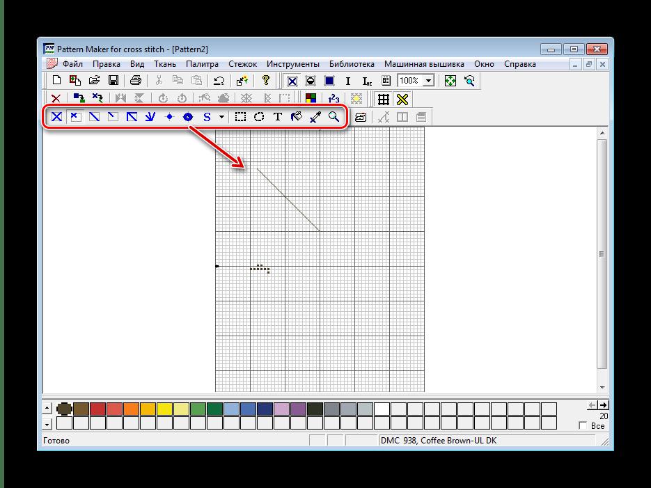 Инструменты вышивки Pattern Maker