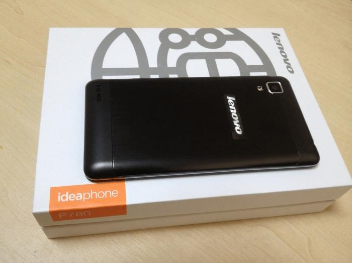 Lenovo P780 коробка китайской аппаратной версии смартфона