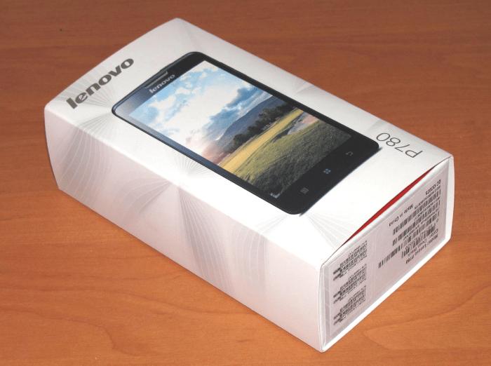 Lenovo P780 коробка международной аппаратной версии смартфона