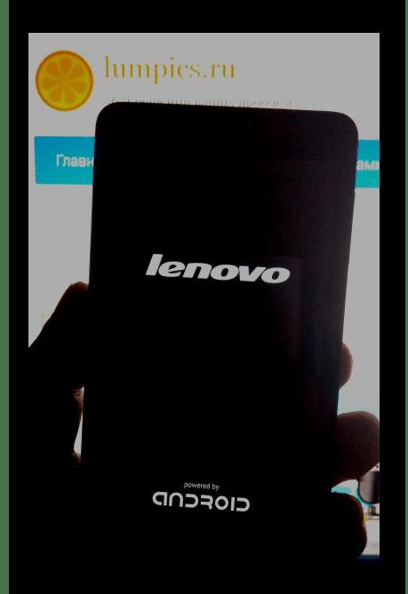 Lenovo P780 включение после прошивки S228 через Flash Tool