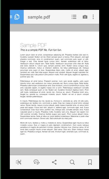 Открытый файл в Adobe Acrobat reader (Android)