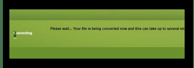Ожидание конвертации файла на ConvertFiles.com