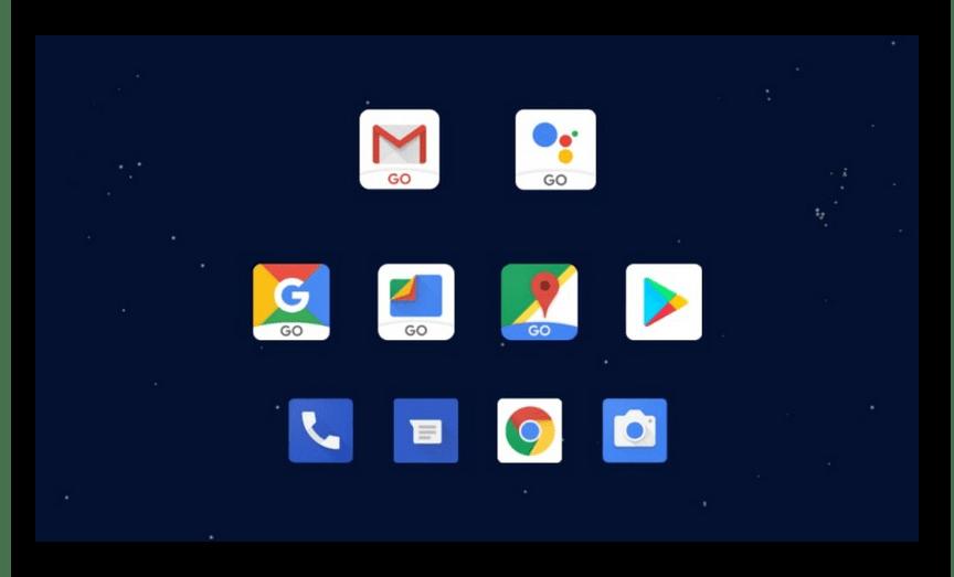 Предустановленные приложения в ОС Android Go