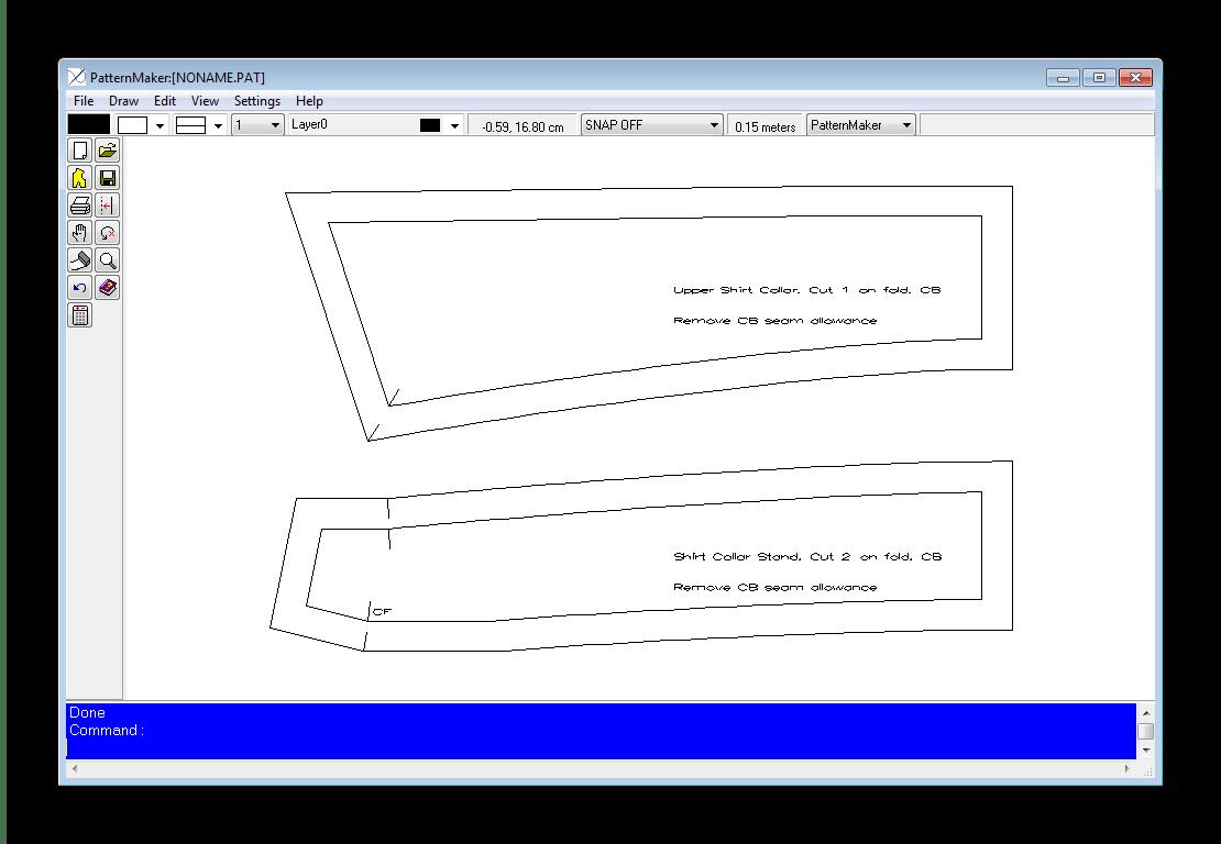 Работа в редакторе PatternViewer
