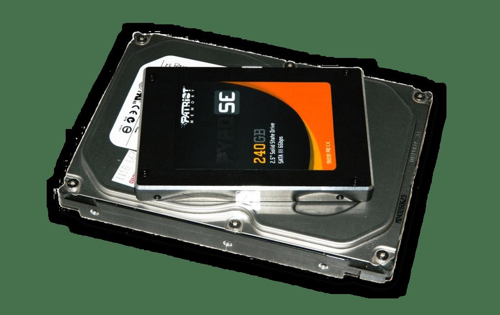 Размеры SSD и HDD в сравнении
