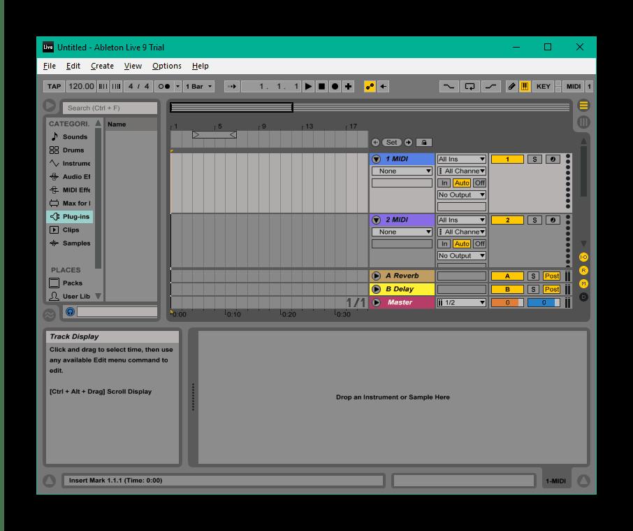 Создание композиции в Ableton Live