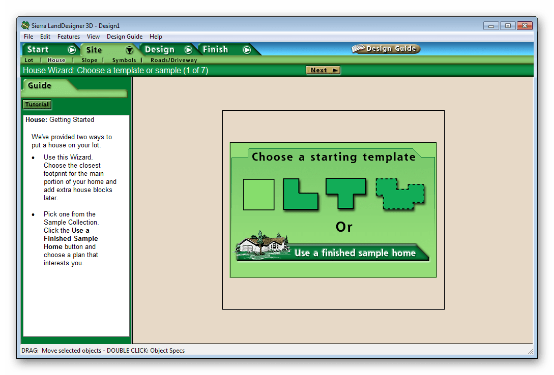 Тип дома Sierra LandDesigner 3D