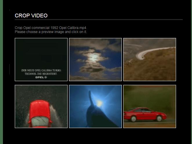 Выбор кадра для кадрирования Онлайн-сервис Videotoolbox