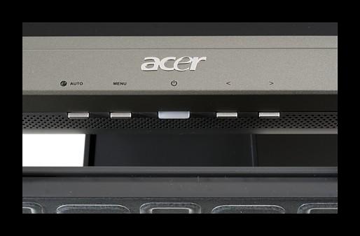 Использование клавиш управления монитором на корпусе экрана