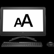 Как увеличить шрифт на экране компьютера