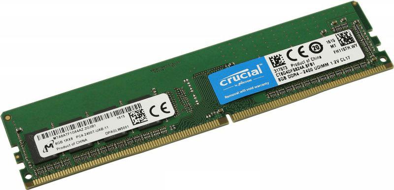 Общий вид оперативной памяти Crucial CT4G4DFS824A