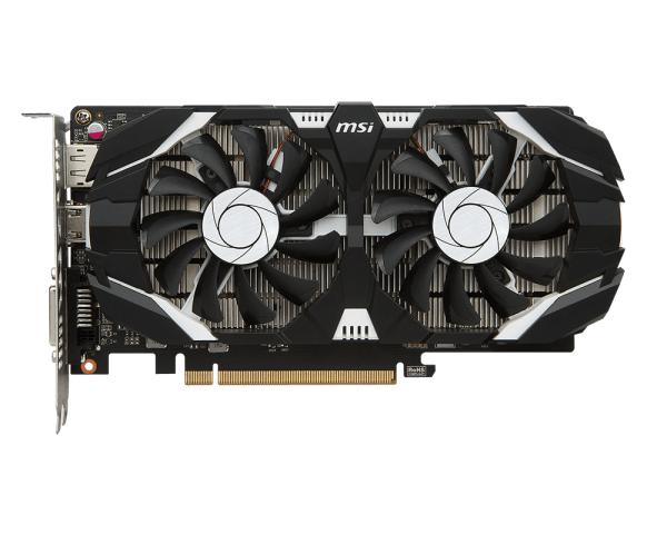 Общий вид видеокарты MSI GeForce GTX 1050 Ti (1341Mhz)