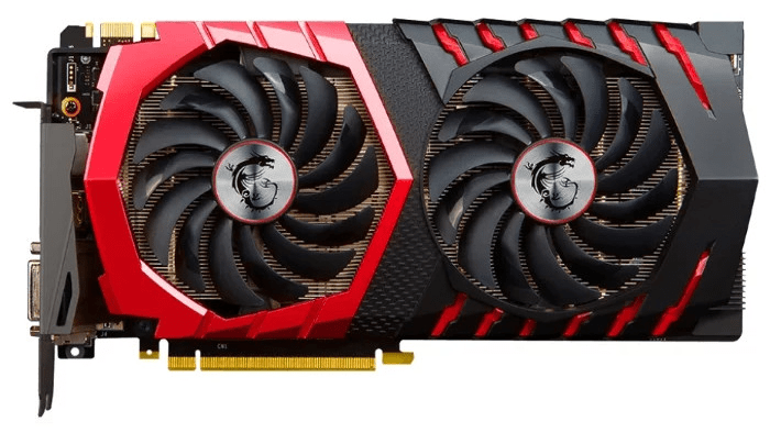 Общий вид видеокарты MSI GeForce GTX 1070 Ti