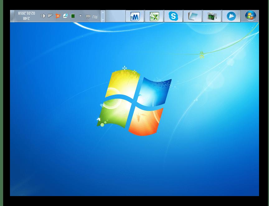 Переворот дисплея на 180 градусов с помощью горячих клавиш в Windows 7