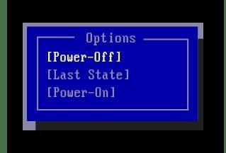 Процесс переключения параметра PWRON After PWR Fail в настройках BIOS на компьютере