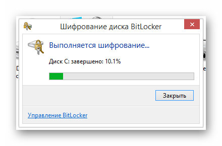 Процесс шифрования системного диска через BitLocker в ОС Виндовс