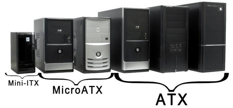 Процесс сравнения компьютерных корпусов по размерам
