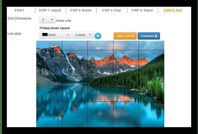 Сделанная мозаика с помощью веб-сервиса GriddRawingTool
