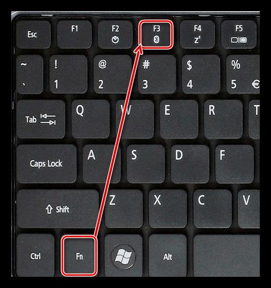 Включение Bluetooth адаптера на клавиатуре ноутбука