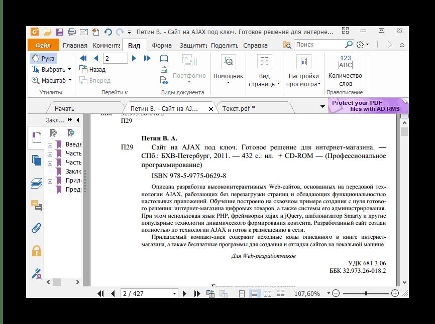 Внешний вид программы Foxit Reader