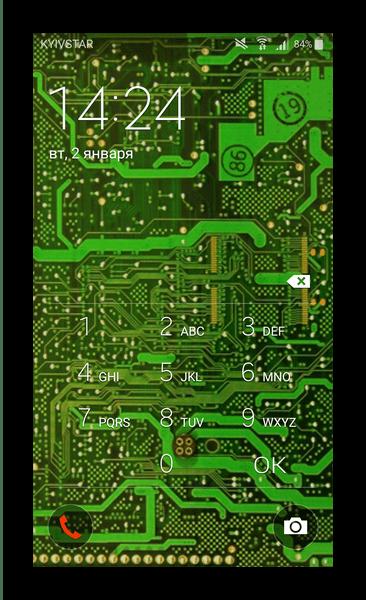 Ввод пин-кода для доступа к разблокированию устройства