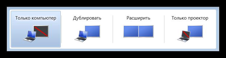 Выбор конфигурации мониторов в Windows