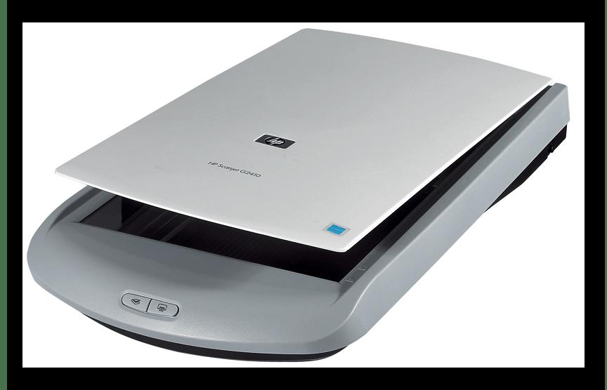 открытая крышка сканера HP