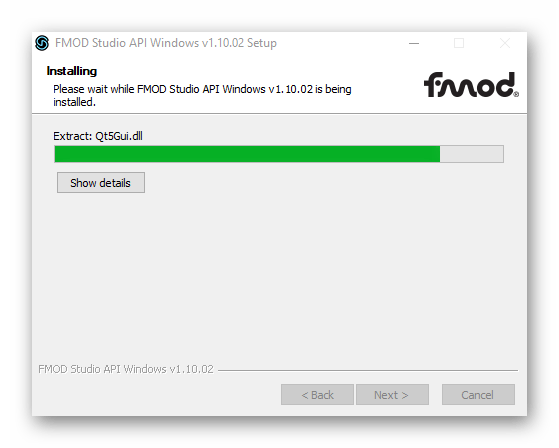 процесс установки FDOM